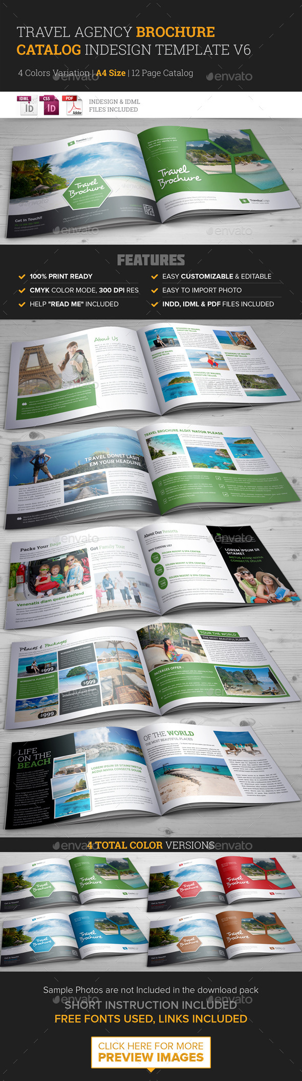 Print template graphicriver travel agency brochure for Travel agency brochure template