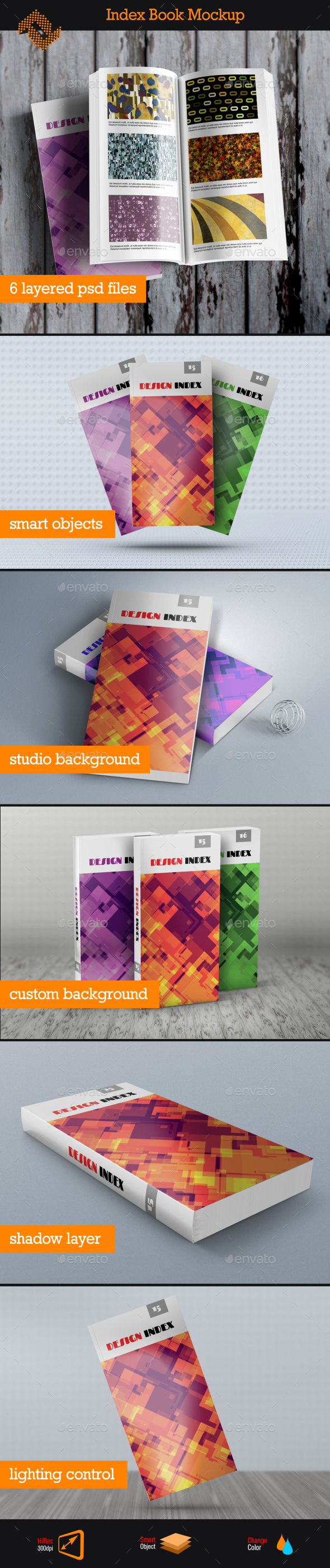 GraphicRiver Index Book Mockup 11615008