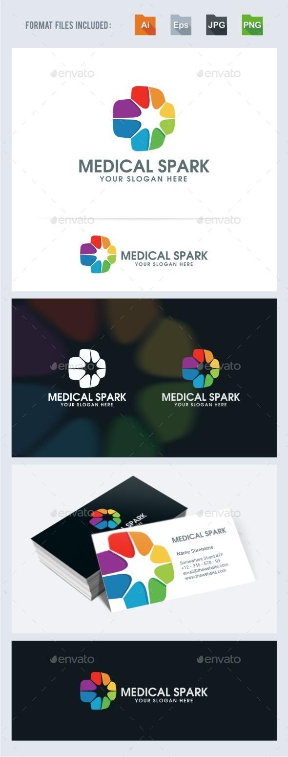 GraphicRiver Medical Spark Logo Template 11615195