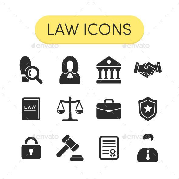 GraphicRiver Law Icons Set 11615253