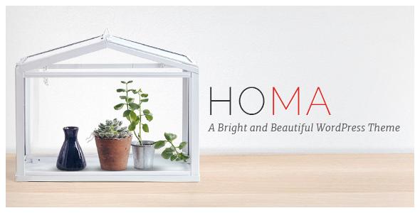 Homa - A Bright and Beautiful WordPress Theme