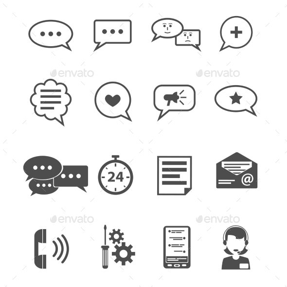 GraphicRiver Chat Icon Black 11615431
