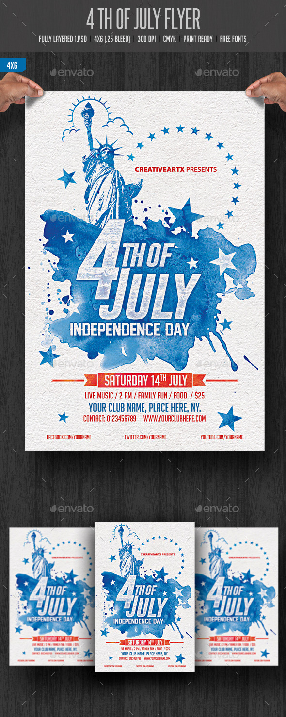 GraphicRiver 4th of July Flyer 11615442