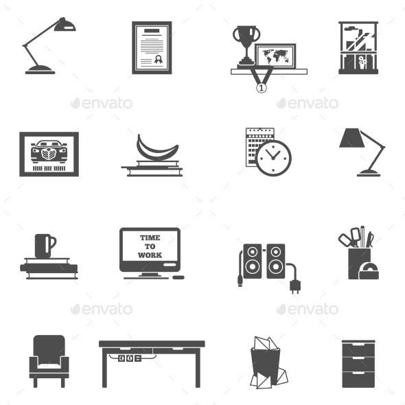 GraphicRiver Room Interior Icons 11615469