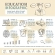 Education Infographic Sketch Set - GraphicRiver Item for Sale
