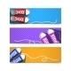 Gumshoes Banner Set - GraphicRiver Item for Sale