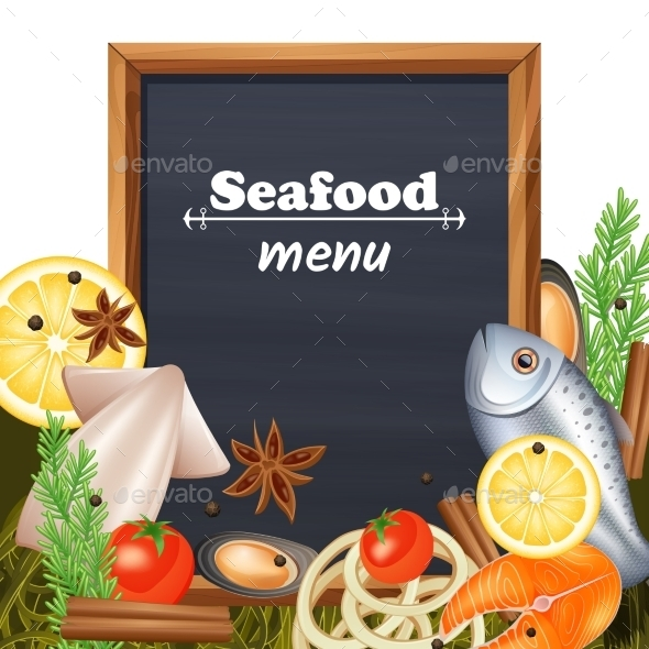 GraphicRiver Seafood Menu Template 11615598
