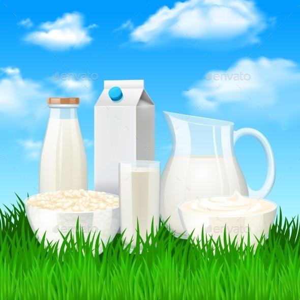 GraphicRiver Milk Products Illustration 11615692