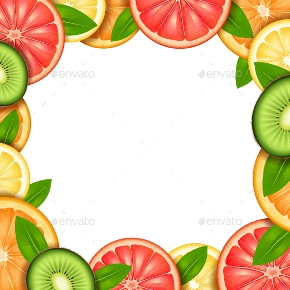 GraphicRiver Fruit Frame Illustration 11615708