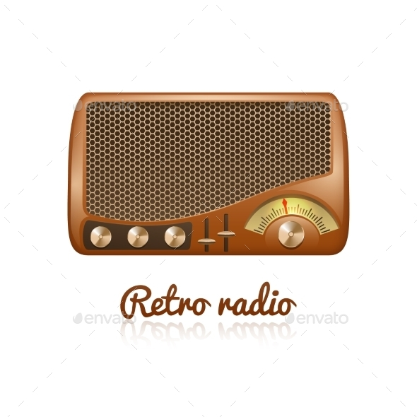 GraphicRiver Retro Radio Illustration 11615716