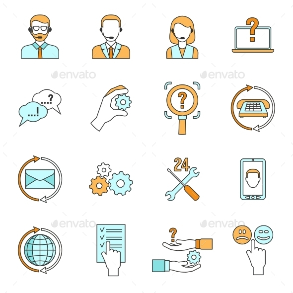 GraphicRiver Support Icons Set 11615728