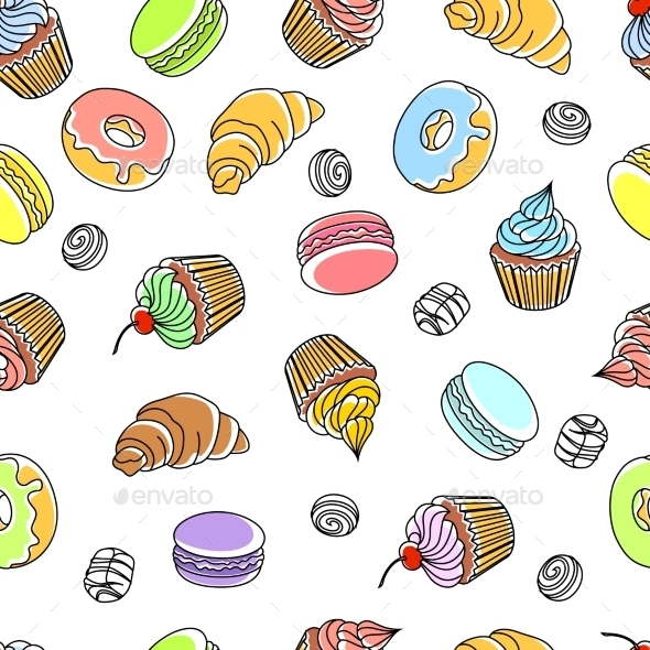 GraphicRiver Cakes Seamless Pattern 11615743