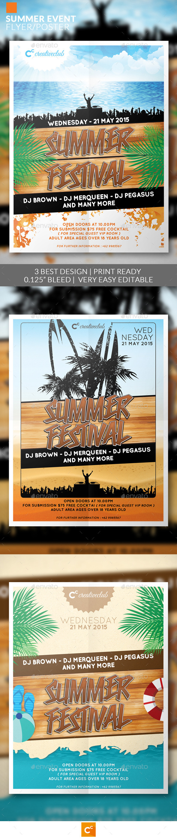 GraphicRiver Summer Event Flyer Poster 11547847