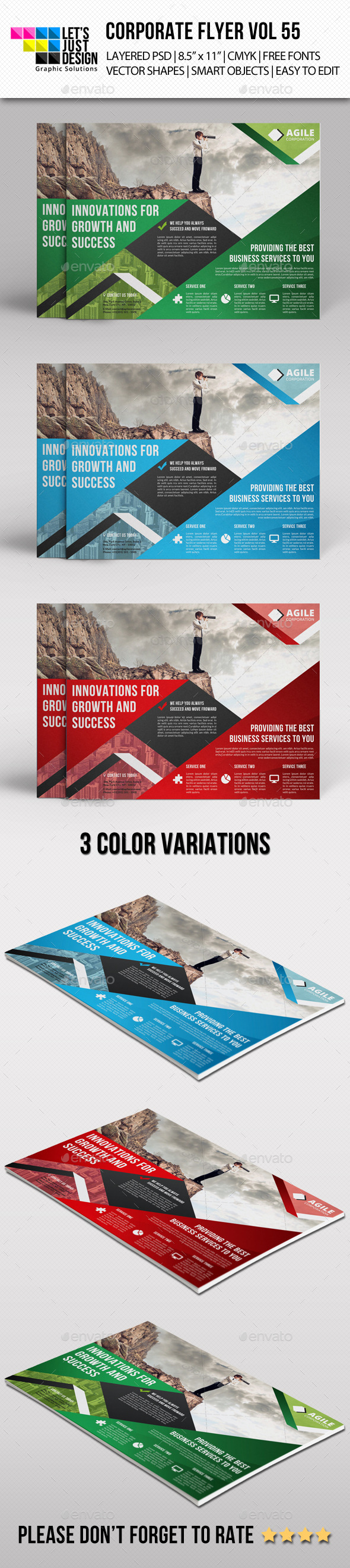 GraphicRiver Corporate Flyer Template Vol 55 11548160