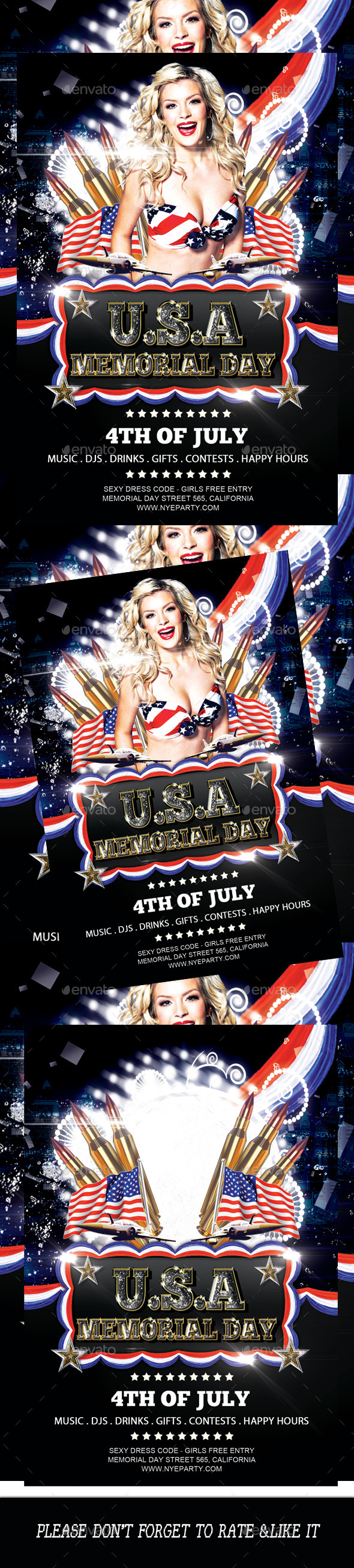 GraphicRiver 4th Of July Flyer Template 2 11615756