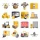 Logistics Flat Icons Set - GraphicRiver Item for Sale