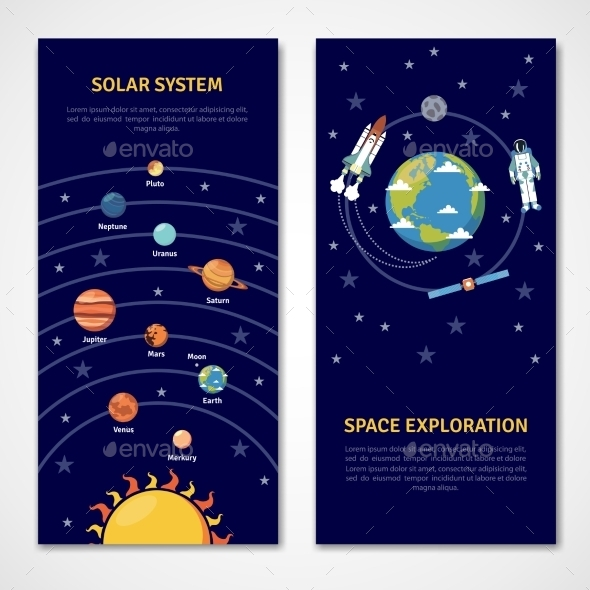 GraphicRiver Solar System and Space Exploration Banners 11615791