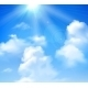 Sun Shining in Sky - GraphicRiver Item for Sale
