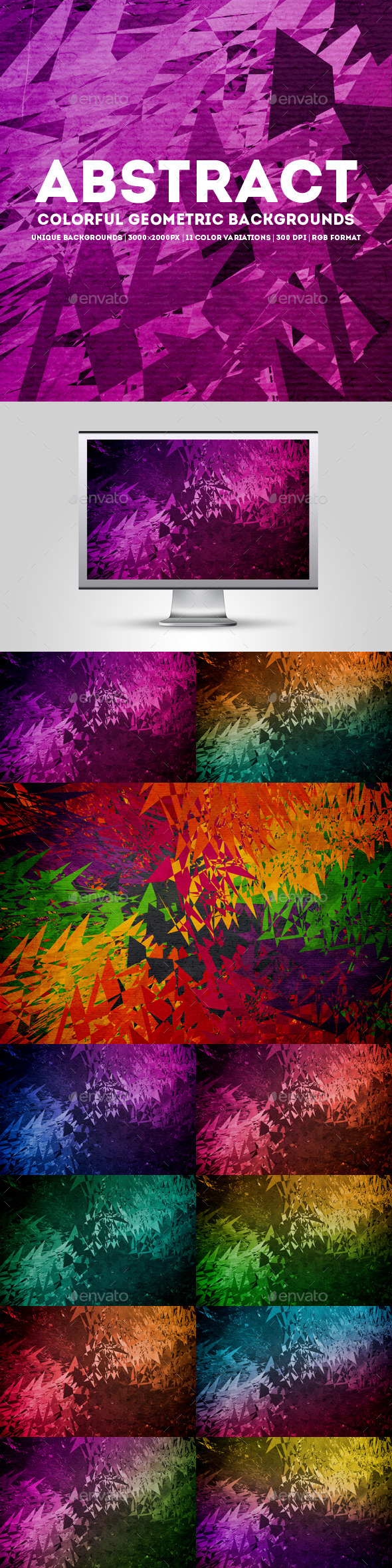 GraphicRiver Abstract Colorful Geometric Backgrounds 11615843