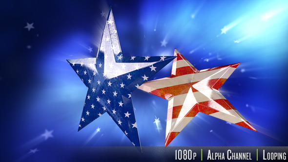 Old Faded USA American Flag in Stars