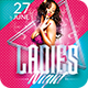 Ladies Night Party | Psd Flyer Templates - GraphicRiver Item for Sale