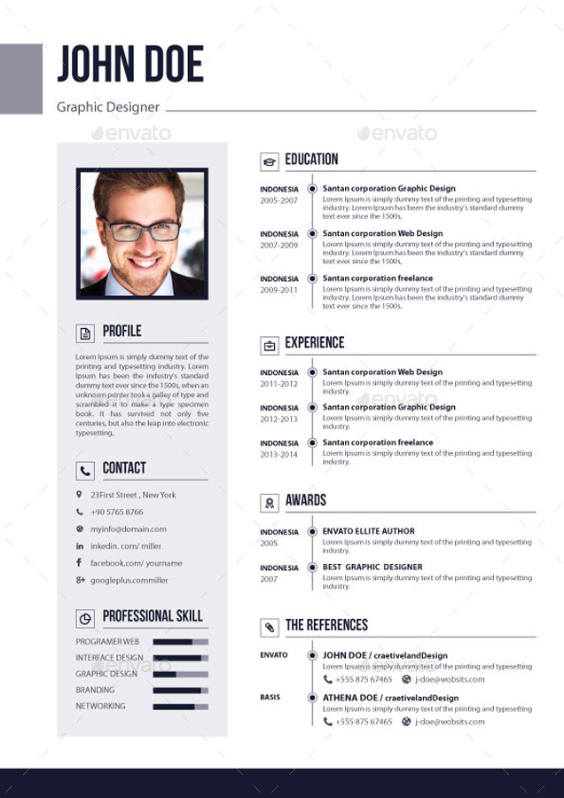 3 Pages Resume / CV V 02 by EliteGraphic | GraphicRiver