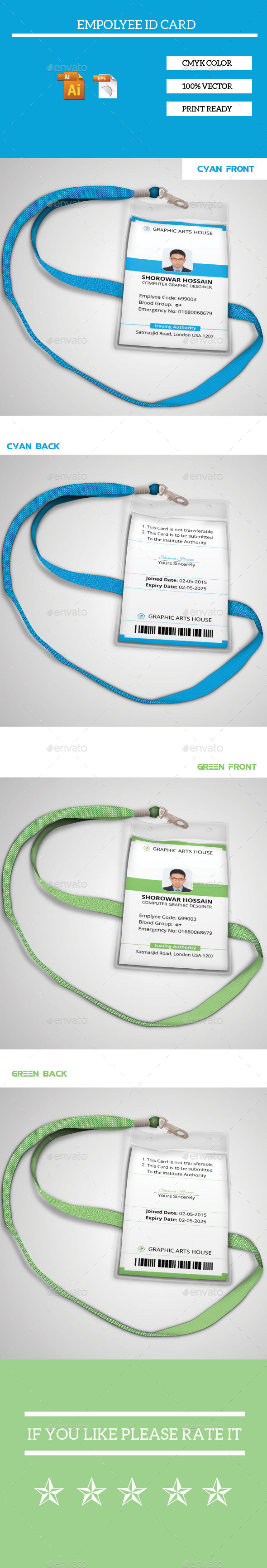 GraphicRiver Employee Id Card 11616718