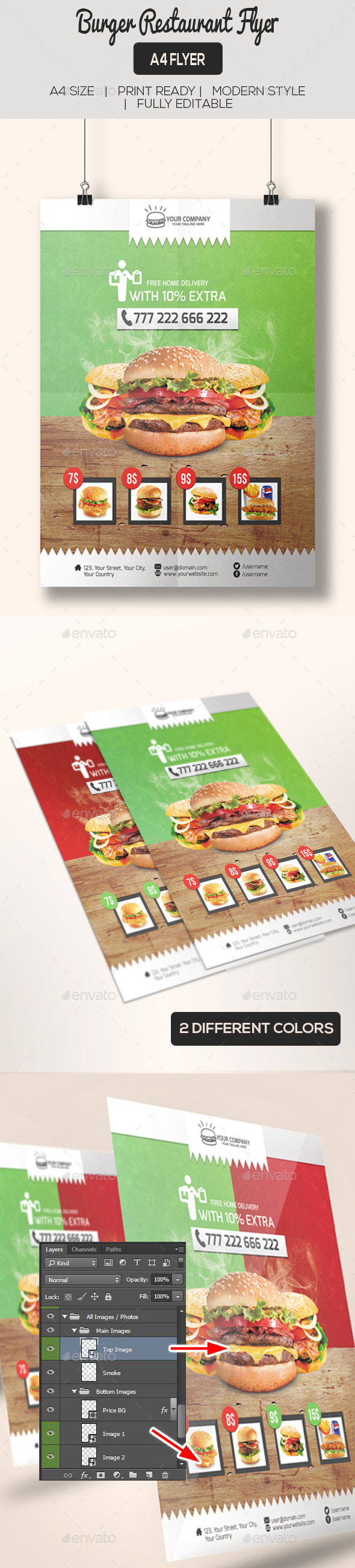 GraphicRiver Burger Restaurant Flyer Poster 11616775