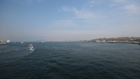 VideoHive Sea Gull And Landscape Golden Horn In Istanbul 11616806