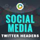Social Media Twitter Headers - 5 Color Variations - GraphicRiver Item for Sale