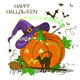 Halloween Card with Pumpkin - GraphicRiver Item for Sale
