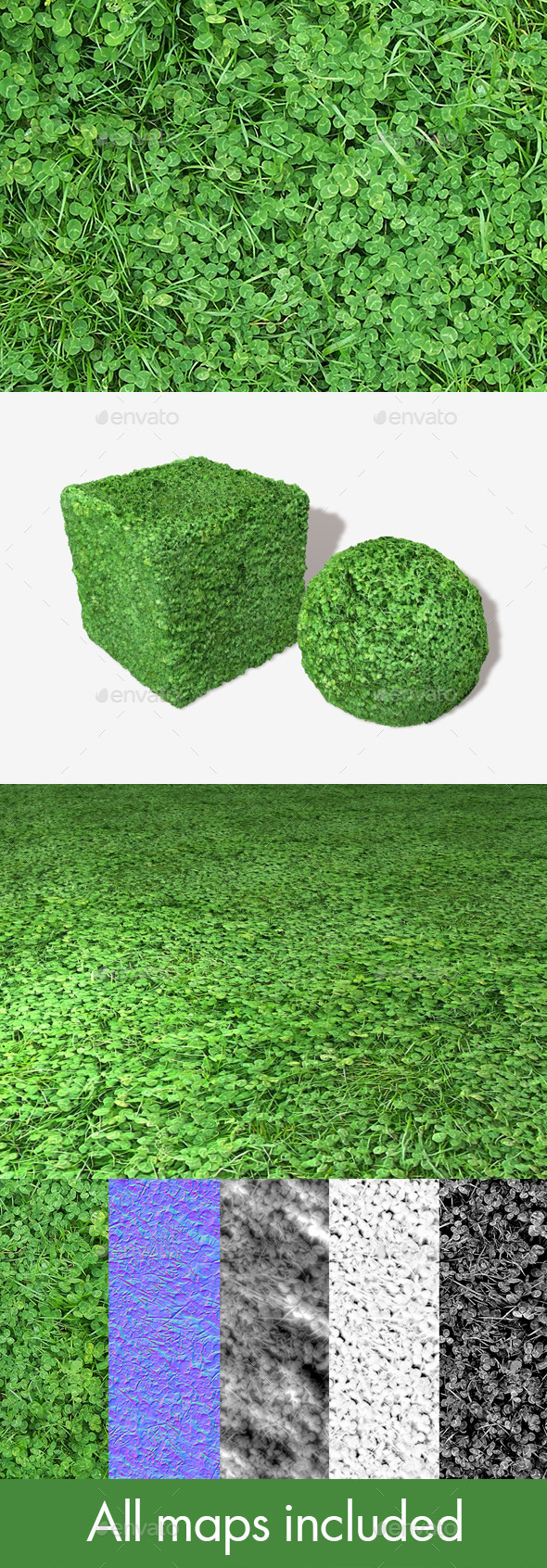 Clover Field Seamless Texture - 3DOcean Item for Sale
