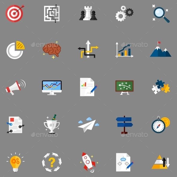 GraphicRiver Strategy Icons 11617676