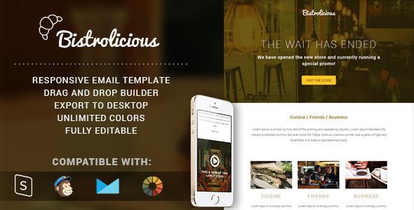 ThemeForest Bistrolicious Responsive Email & Online Builder 11566773