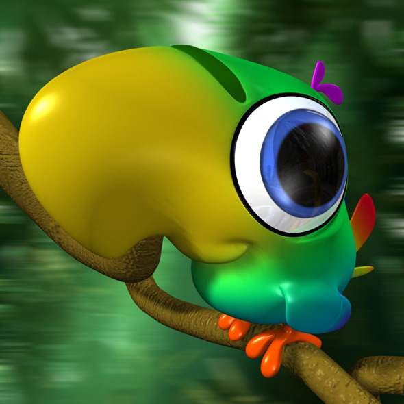 3DOcean Cartoon Parrot Rigged 11617827