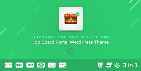 WPJobus - Job Board and Resumes WordPress Theme - Directory & Listings Corporate
