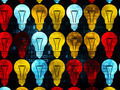 Business concept: Light Bulb icons on Digital background - PhotoDune Item for Sale