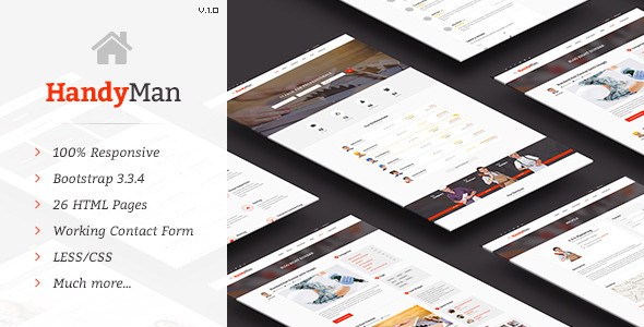 ThemeForest Handyman Job Board HTML Template 11620086