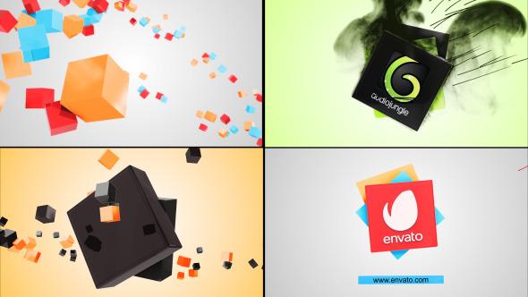 3D Spiral Cube Logo Reveal