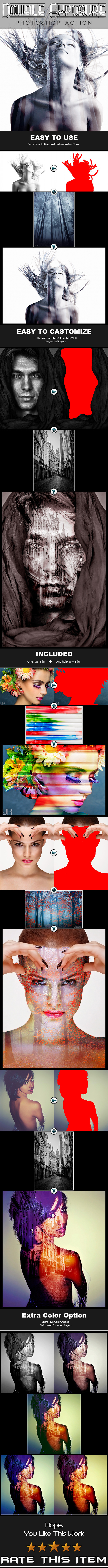 GraphicRiver Double Exposure PS Action 11620317