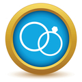 Gold wedding rings icon - PhotoDune Item for Sale