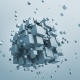 Abstract 3D Rendering Of Flying Cubes. - GraphicRiver Item for Sale
