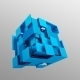 Abstract 3D Rendering Of Flying Cube. - GraphicRiver Item for Sale