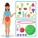 Healthy Diet and Equipment for Fitness - GraphicRiver Item for Sale