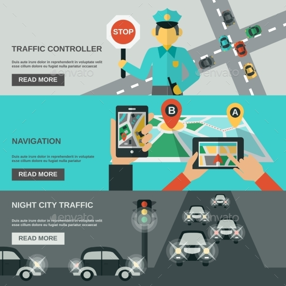 GraphicRiver Traffic Banner Set 11620587