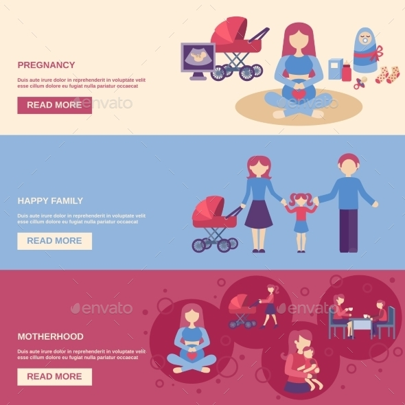 GraphicRiver Motherhood Banner Set 11620590