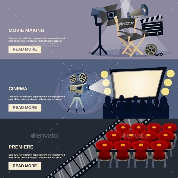 GraphicRiver Cinema Banner Set 11620594