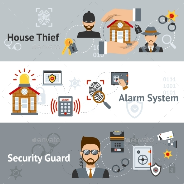 GraphicRiver Security Banner Set 11620602