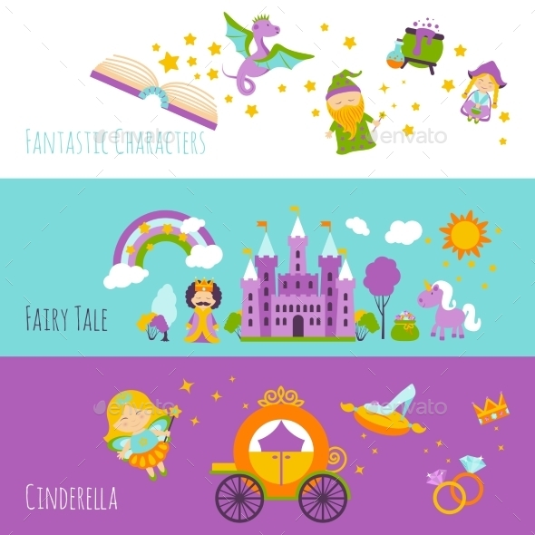 GraphicRiver Fairy Tale Banner Set 11620604