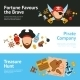 Pirate Concept Flat Banners Set - GraphicRiver Item for Sale